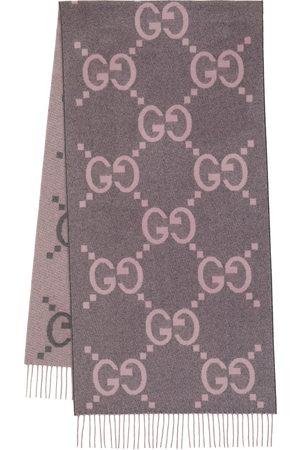 Gucci GG jacquard cashmere scarf