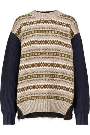 JUNYA WATANABE Intarsia-knit wool-blend sweater
