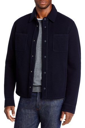 HERNO Heavy Knit Shirt Jacket With Contrast Back