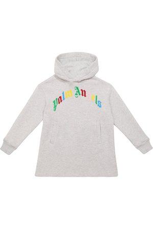 Palm Angels Logo cotton hoodie dress