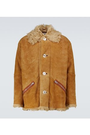 Acne Studios Suede and shearling jacket