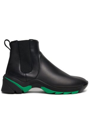 Bottega Veneta Exaggerated-sole Leather Chelsea Boots - Mens