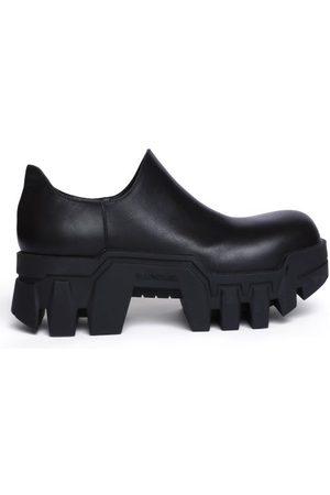 Balenciaga Bulldozer Platform Leather Shoes - Womens