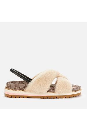Coach Women's Tally Shearling Sandals