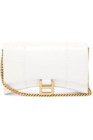 Balenciaga Hourglass Croc-effect Leather Cross-body Bag - Womens
