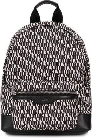 AMIRI Monochrome logo canvas backpack
