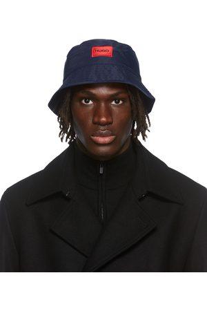 HUGO BOSS Men Hats - Navy Box Logo Bucket Hat