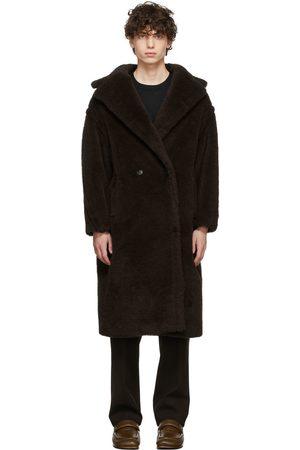Max Mara Men Fleece Jackets - Brown Teddy Bear Icon Coat