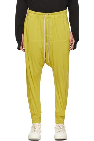 Rick Owens Men Sweats - Yellow Drawstring Prisoner Lounge Pants
