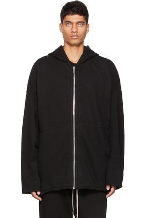 Rick Owens Men Fleece Jackets - Black Zip Front Peter Jacket