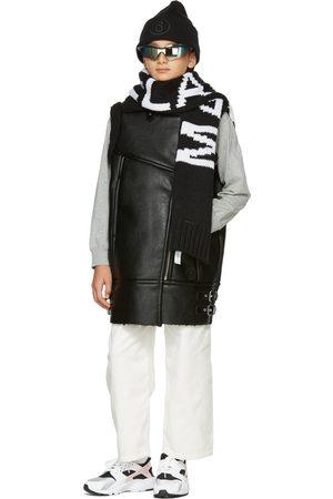 MM6 MAISON MARGIELA Kids Black Faux-Leather Moto Vest