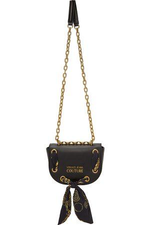VERSACE Women Shoulder Bags - Black Range Logo Scarf Bag
