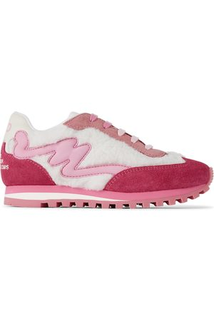 Marc Jacobs Tracksuits - Kids Pink & White 'The Jogger' Sneakers
