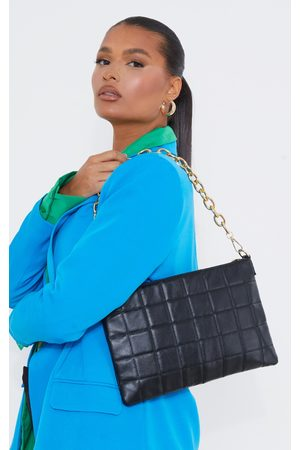 PRETTYLITTLETHING Quilted Chunky Chain Clutch Bag