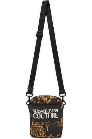 VERSACE Men Luggage - Black Range Logo Messenger Bag