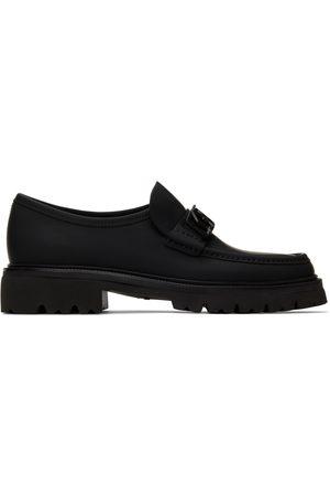 Salvatore Ferragamo Black Nusco Loafers