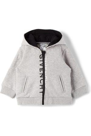 Givenchy Baby Grey Split Logo Zip Hoodie
