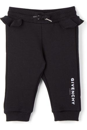 Givenchy Baby Black Logo Ruffle Lounge Pants