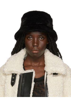 Stand Studio Black Faux-Fur Wera Bucket Hat
