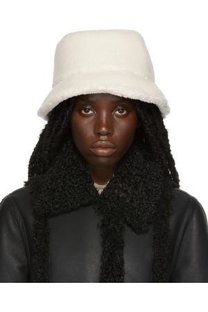 Stand Studio Off-White Faux-Shearling Wera Bucket Hat