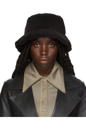 Stand Studio Black Faux-Shearling Wera Bucket Hat