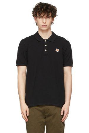 Maison Kitsuné Men Polo Shirts - Black Fox Head Patch Polo