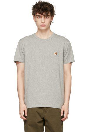 Maison Kitsuné Men T-shirts - Grey Fox Head Patch T-Shirt