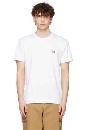 Maison Kitsuné Men T-shirts - White Fox Head Patch T-Shirt