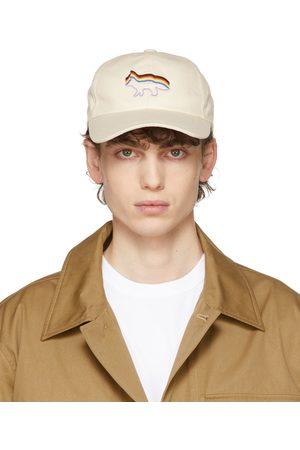 Maison Kitsuné Men Caps - Beige Rainbow Fox Pride Cap