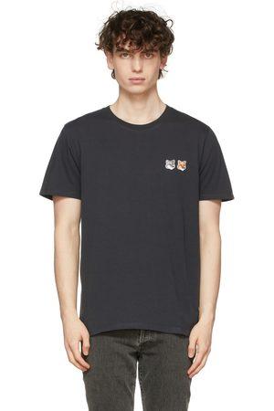 Maison Kitsuné Black Double Fox Head Patch T-Shirt