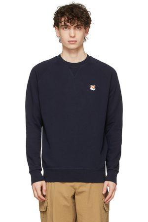 Maison Kitsuné Navy Fox Head Patch Sweatshirt