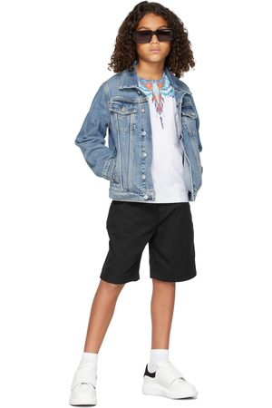 MARCELO BURLON Kids Blue Bird Wings T-Shirt