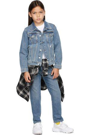 OFF-WHITE Kids Blue Diag Jeans