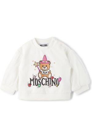 Moschino Baby White Tulle Sleeve Fairy Print Sweatshirt