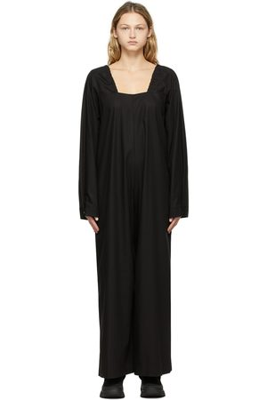 Y'S Black 40 Voile Ice Freeze Overall Jumpsuit