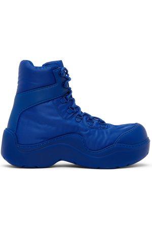 Bottega Veneta Blue Puddle Bomber Lace-Up Boots