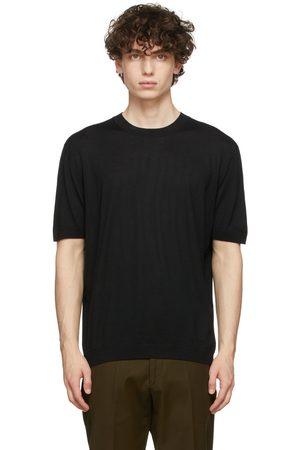 Agnona Black Knit Cashmere T-Shirt