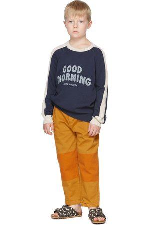 Bobo Choses Kids Navy & Off-White Good Morning Sweater