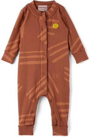 Bobo Choses Baby Burgundy Scratch All Over Jumpsuit
