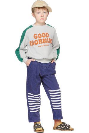 Bobo Choses Kids Grey & Green Good Morning Sweatshirt