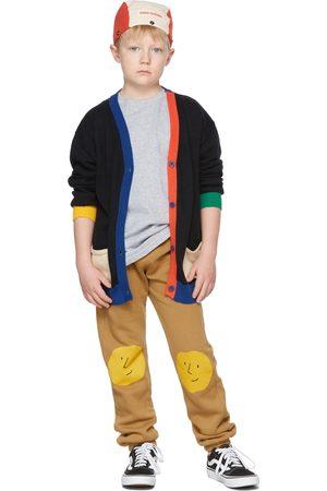 Bobo Choses Kids Tan Fleece Faces Lounge Pants