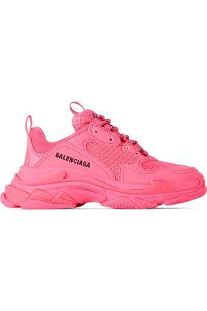 Balenciaga Kids Pink Triple S Sneakers