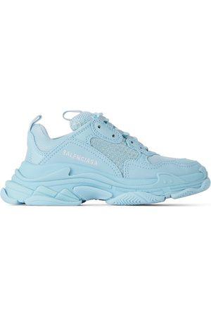 Balenciaga Sneakers - Kids Blue & White Triple S Sneakers