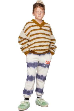 The Animal Observatory Kids White & Blue Tie-Dye Dromedary Lounge Pants