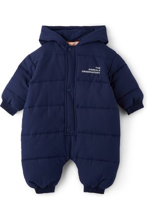 The Animal Observatory Baby Navy Padded Bumblebee Snowsuit