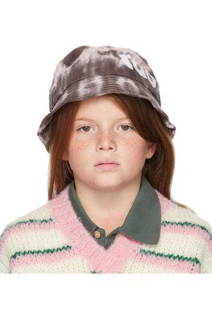 The Animal Observatory Kids Brown & Pink Tie-Dye Starfish Bucket Hat