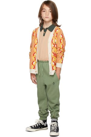 The Animal Observatory Kids Green Panther Lounge Pants