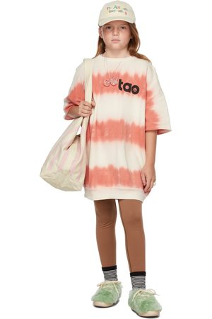 The Animal Observatory Kids White & Red Tie-Dye Whale Dress