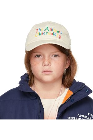 The Animal Observatory Kids Off-White 'The Animals' Big Hamster Cap