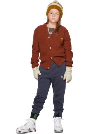 The Animal Observatory Kids Brown Racoon Cardigan